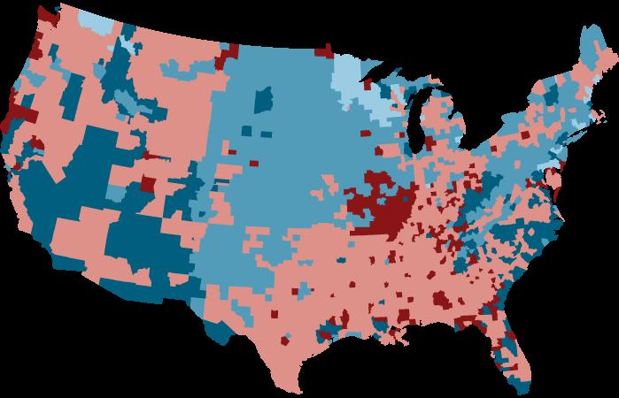 这张漂亮的地图显示了为什么煤电正在挣扎,特朗普尽管如此